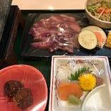 リブステーキ石焼き定食