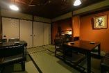 京町屋2階の個室 テーブル席