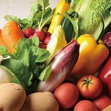 契約農家から仕入れた新鮮野菜