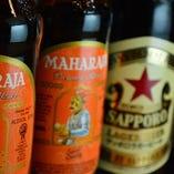 インドビールを含めアルコールドリンクも充実しています!