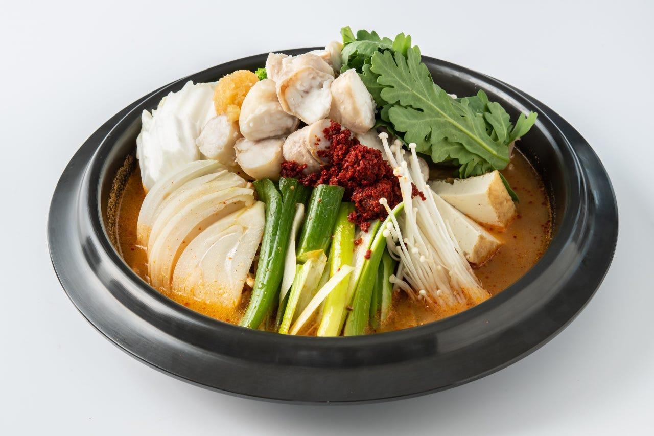 韓国風もつ鍋(ホルモン鍋)が新しくなりました!