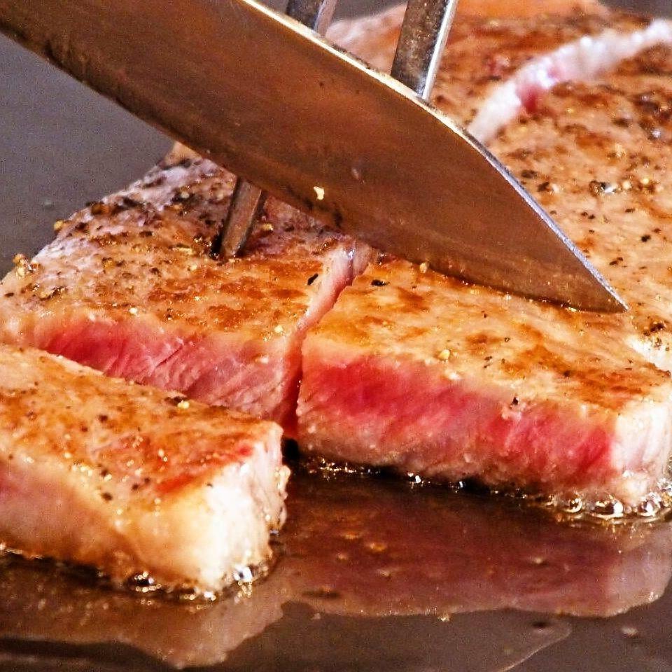 目の前でじっくり焼き上げる絶品ステーキを召し上がれ『ステーキランチ』[全4品]
