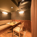 お忍びで利用される人気の完全個室完備。女子会・記念日に。