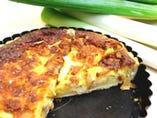山崎シェフの深谷ネギとチーズのタルト