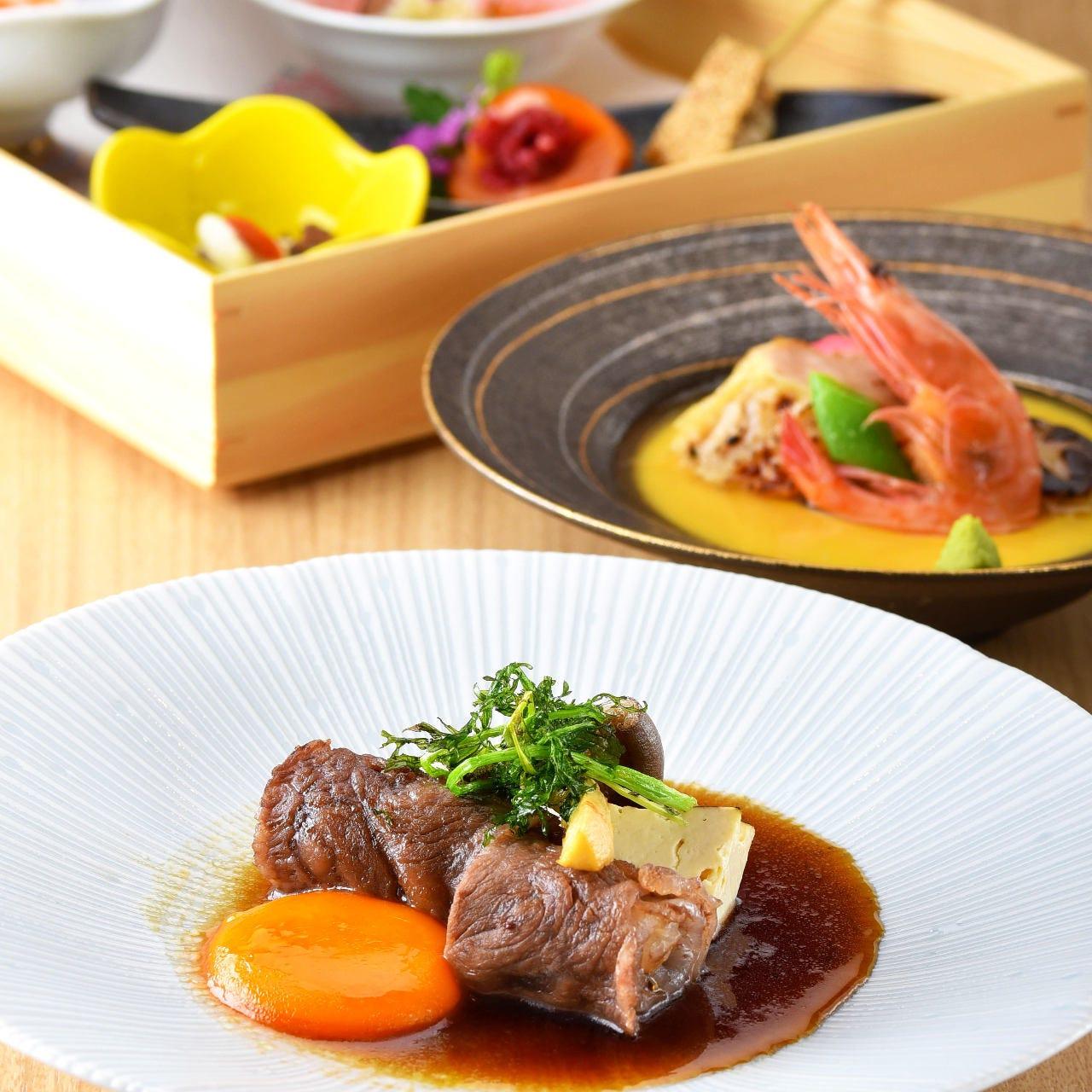 【ディナー限定】顔合わせ 結納「祝膳コース」料理九品8000円