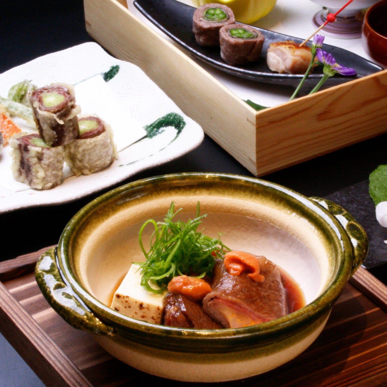 6月限定【水無月(みなつき)】料理十品11000円