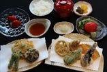 野菜天ぷらのお食事をお楽しみいただけます