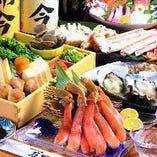 ずわい蟹と春山菜の出汁しゃぶコース、全8品 2時間の飲み放題付