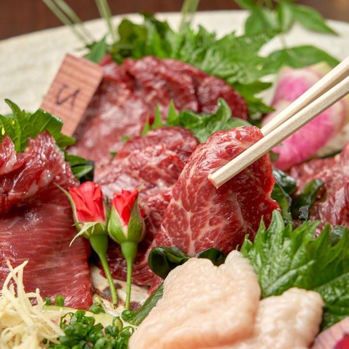 【馬】厳選馬肉料理の数々