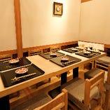 テーブル個室【4名様~8名様まで】接待やご家族の慶賀のお食事にどうぞ
