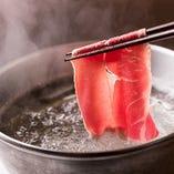 お肉をさっとお湯に通すだけのしゃぶしゃぶ…シンプルな調理法だけに素材のごまかしがきかない料理