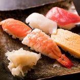 ネタにこだわったお寿司