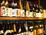 厳選されたお酒は焼酎、 日本酒合わせて50種以上!!