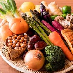 季節の野菜の天ぷらをご用意しております