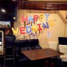 結婚式二次会でスペシャルサプライズ