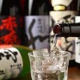 各地にある様々な銘柄の中から厳選した日本酒・焼酎をご用意♪