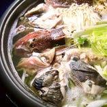 カジカ海鮮寄せ鍋はアンコウ海鮮寄せ鍋にも変更できます