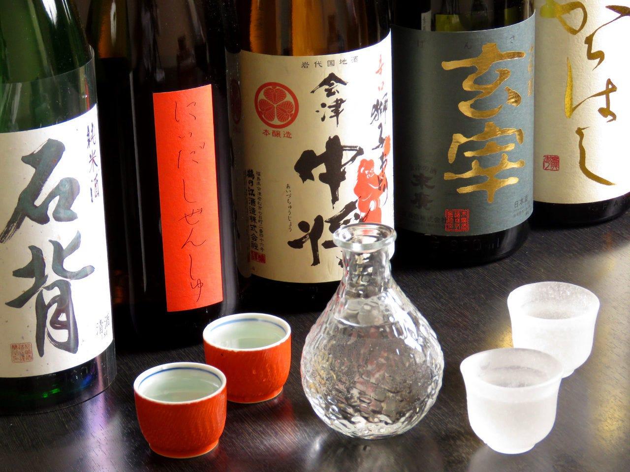 【2時間単品飲み放題】銘柄日本酒も飲み放題!! 2,200円(税込み)