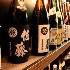 焼酎40種以上!厳選日本酒もあり!
