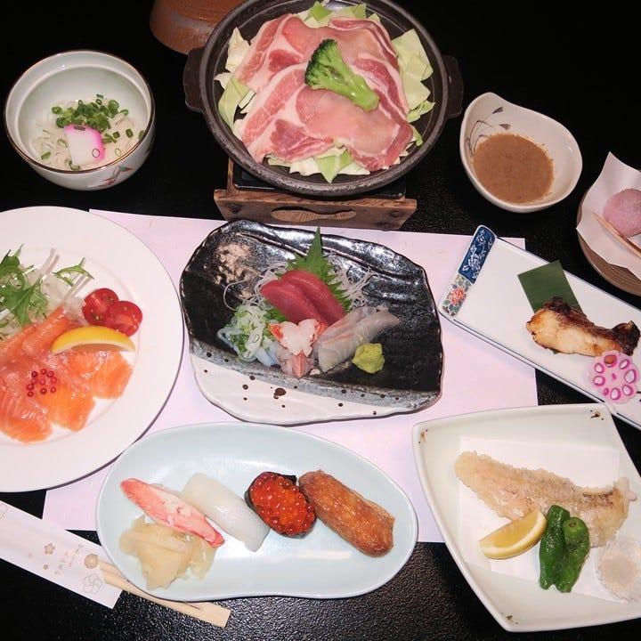 本格寿司をメインに季節の味を堪能