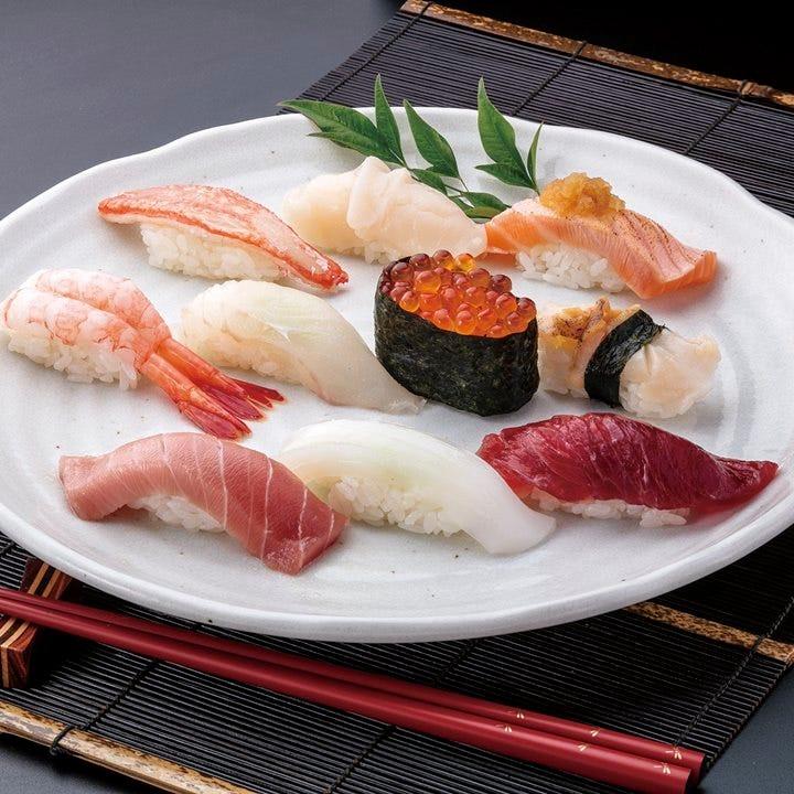 職人技が光る「板前おまかせ寿司」