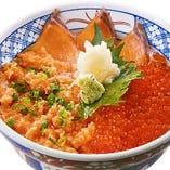 サーモン三色丼
