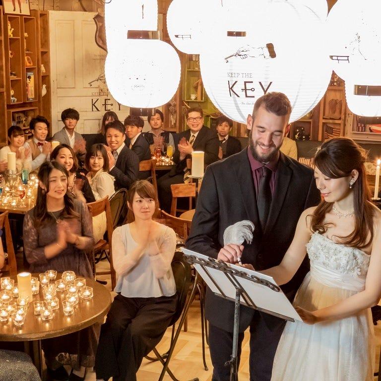 結婚式二次会コースはデザートビュッフェ付飲み放題150分3000円
