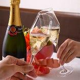 【ディナー限定】  シャンパンお一人様1杯サービス!