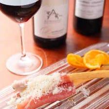 鼻孔をくすぐるワインと料理を堪能