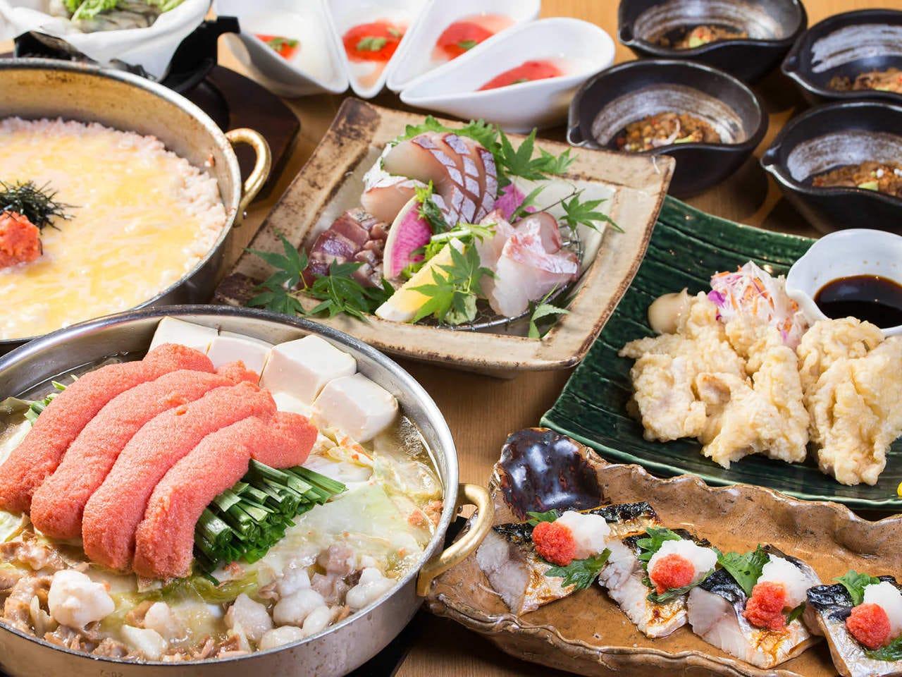 博多 新名物 明太子もつ鍋をはじめ九州名物を盛り込んだ定番セット