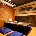 【完全個室】 テーブルor掘りごたつ 2つのタイプの個室を完備