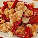 鶏肉の四川風二種唐辛子炒め