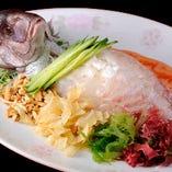 一楽特製 鯛のお刺身 (要予約)