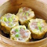 手切り豚肉と枝豆の焼売(4個)