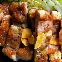 ジューシー☆豚テキと蒸しキャベツ 醤油ベースソース