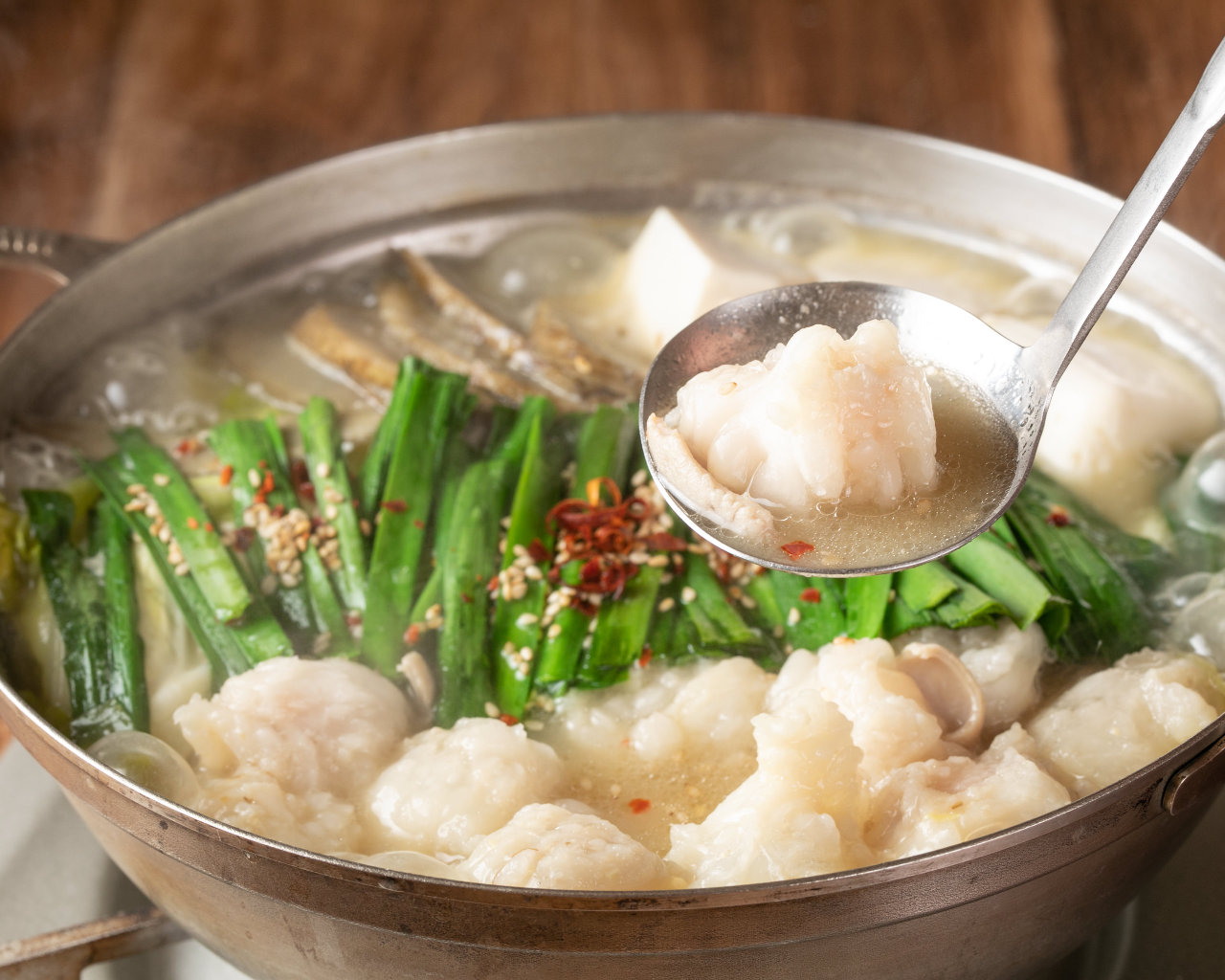 近江牛もつ×京都吟醸白味噌スープ