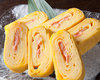 モッツアレラチーズと明太子の玉子焼き