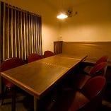 大好評の1階半個室席。最大8名様までご利用可能です!