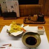 大将の自慢の揚げたて天ぷらです!