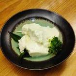 自慢の濃い豆乳の手作り豆腐です!