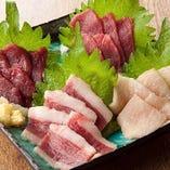 馬肉の味比べ★5店盛り
