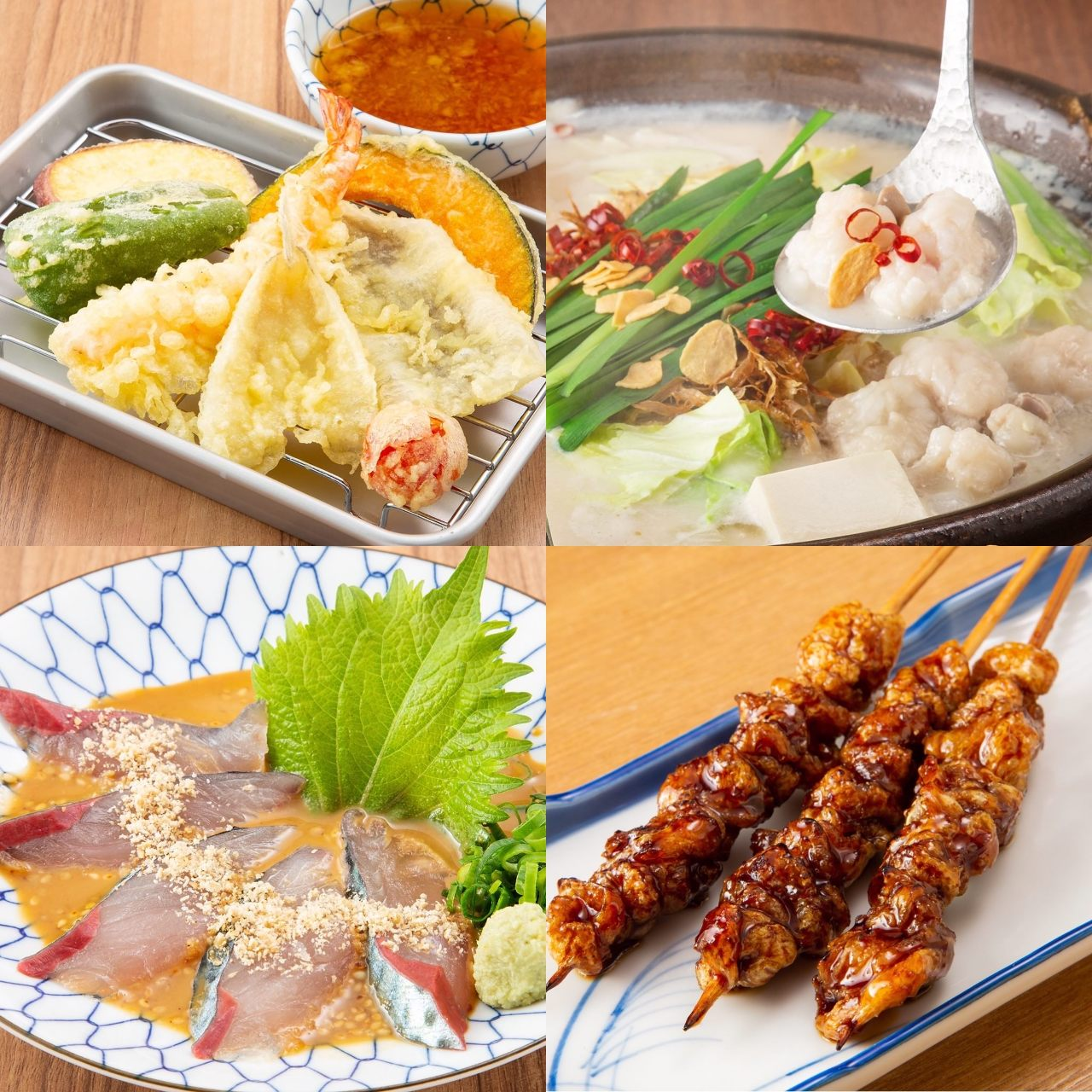 ■博多名物!『天ぷら・ごま鯖・もつ鍋・焼き鳥・餃子』
