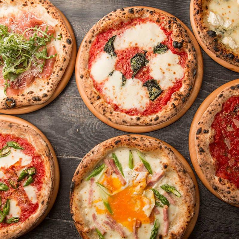 絶品焼き立てピッツァは7種類からお選びいただけます。
