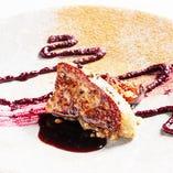フォアグラのポワレ 季節のお皿