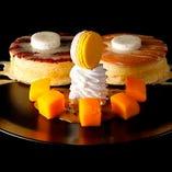 季節のパンケーキはニューオータニ自慢のレシピ。