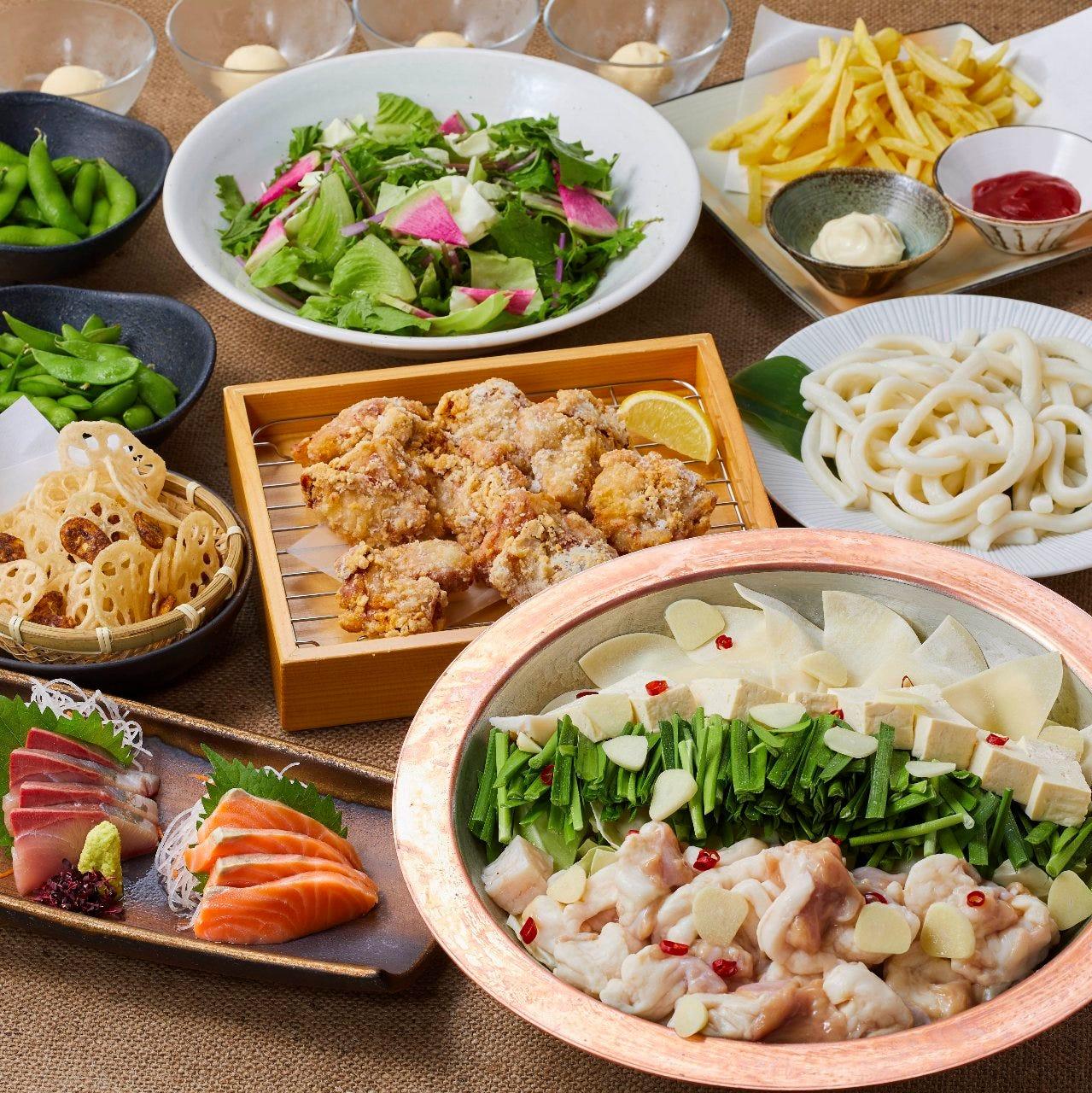 【2H飲放題付】全9品 刺身盛り合わせと選べる鍋コース 3500円(税込)