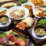 種類豊富な3時間飲み放題付ご宴会コースは2500円から多数ご用意!