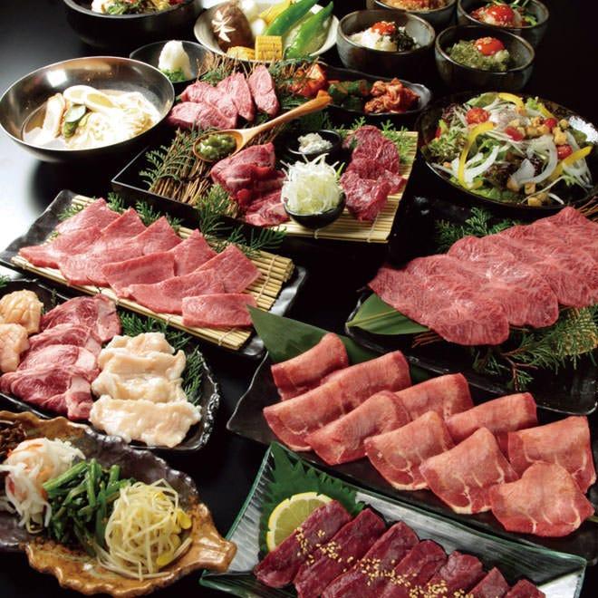 【宴コース】全コースで最もお肉の量が多いコース