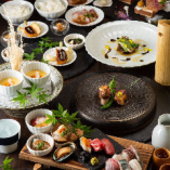 毎朝仕入れる鮮魚のお造りや地元厳選食材を月替わりでお届け〈舞~mai~コース〉