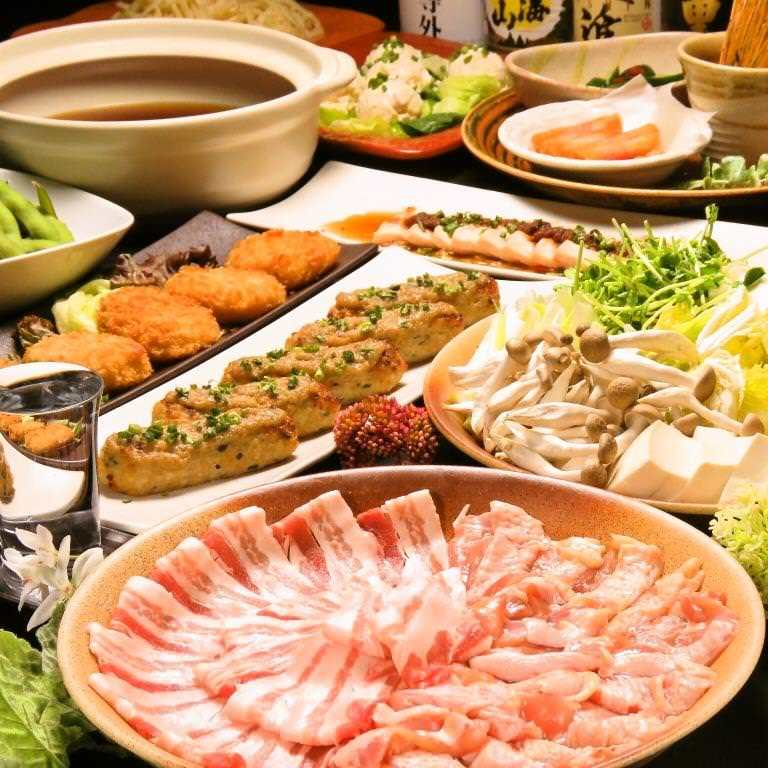 【2.5時間飲み放題付き】2種類から選べるメイン料理♪賑コース 全8品3,500円(税抜)